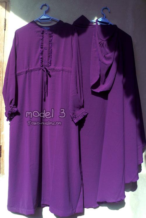 Baju Setelan Akhwat Gamis Jilbab Cadar Lepas Toko