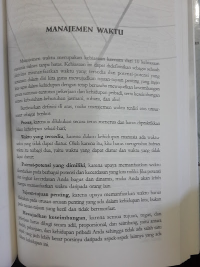 Buku 10 Kebiasaan Manusia Sukses Tanpa Batas Isi