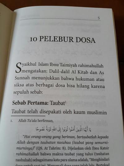 Buku Saku 10 Pelebur Dosa Isi