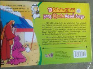 10 sahabat nabi yang dijamin masuk surga 1set 3jilid buku anak cover