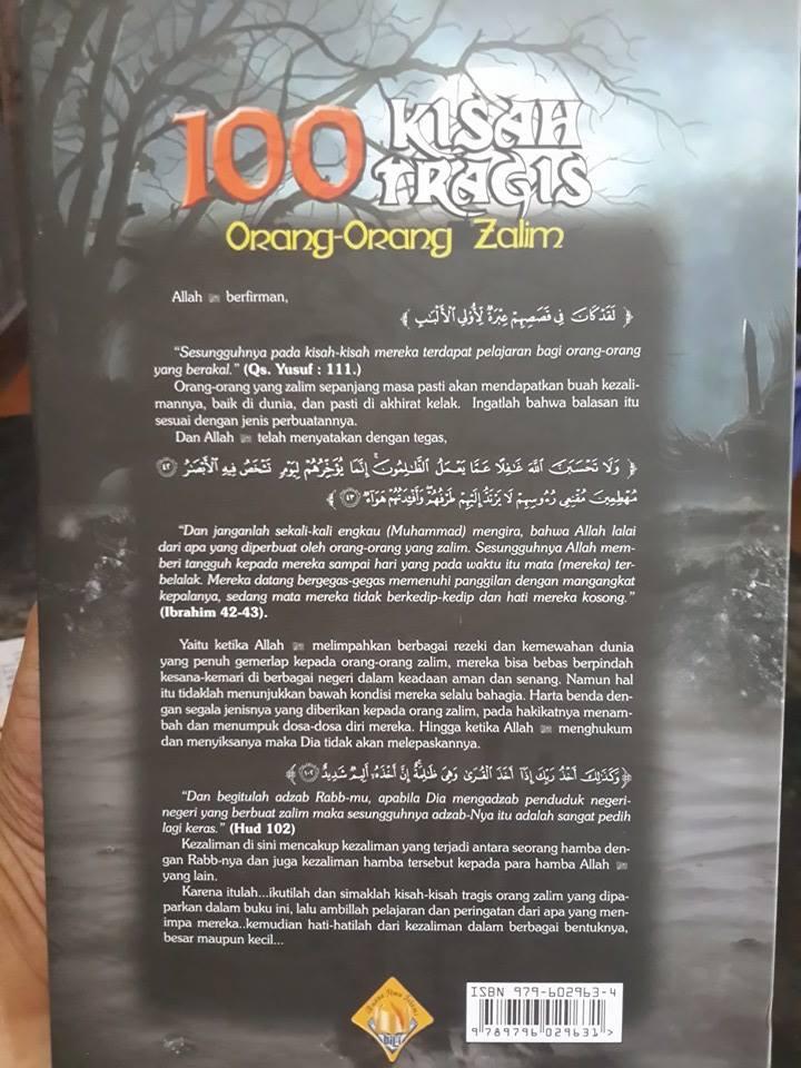 Buku 100 Kisah Tragis Orang-Orang Zalim Cover 2