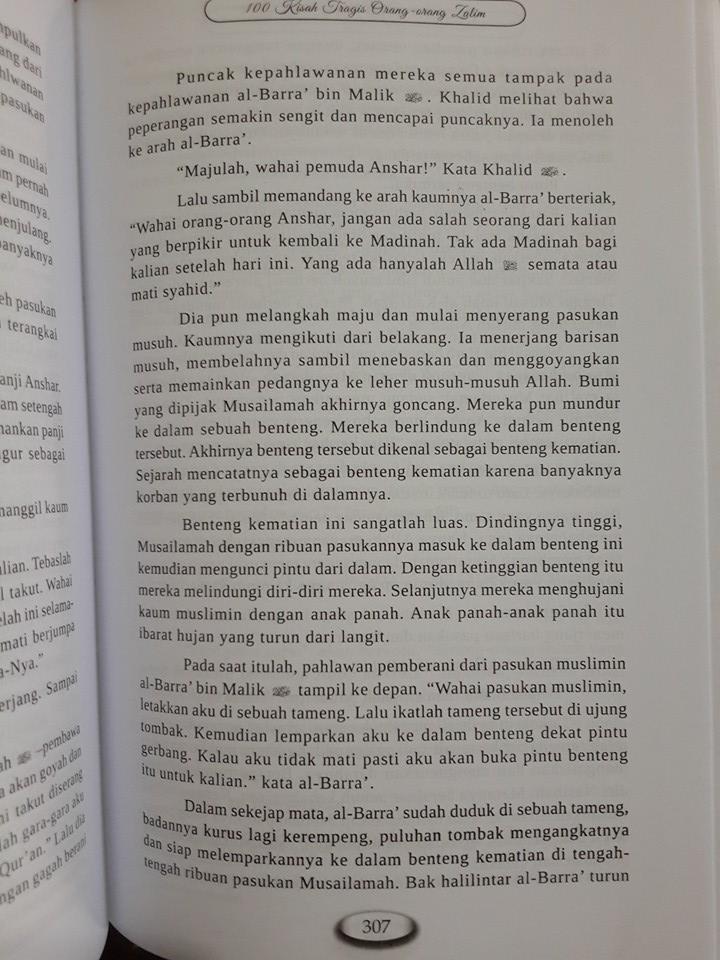 Buku 100 Kisah Tragis Orang-Orang Zalim Isi