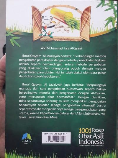 Buku 1001 Resep Obat Asli Indonesia Cover Belakang