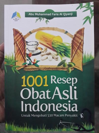 Buku 1001 Resep Obat Asli Indonesia Cover