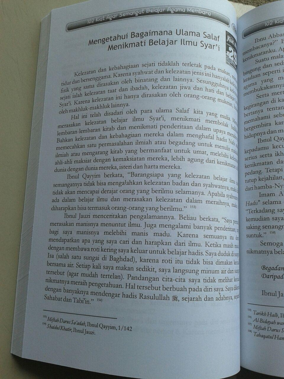 Buku 102 Kiat Agar Semangat Belajar Agama Membara isi 3