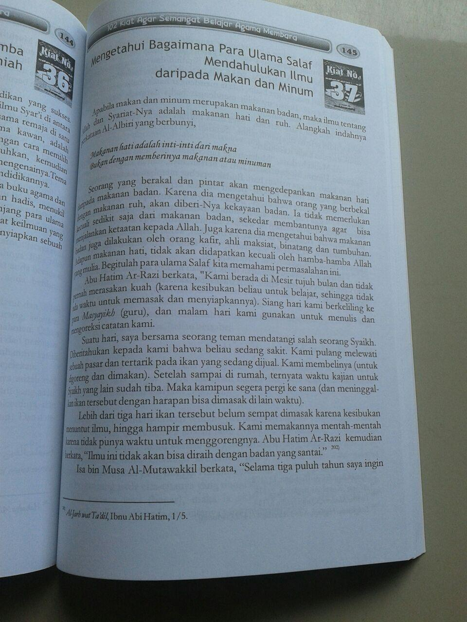 Buku 102 Kiat Agar Semangat Belajar Agama Membara isi 4