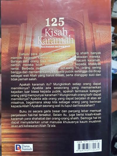 Buku 125 Kisah Karamah Para Shahabat Dan Orang Shalih Cover 2