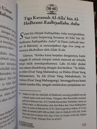 Buku 125 Kisah Karamah Para Shahabat Dan Orang Shalih Isi