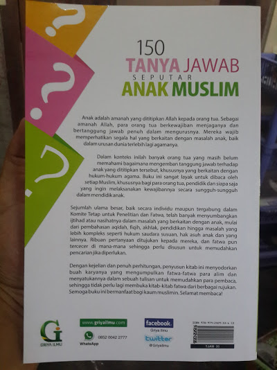 Buku 150 Tanya Jawab Seputar Anak Muslim Cover Belakang