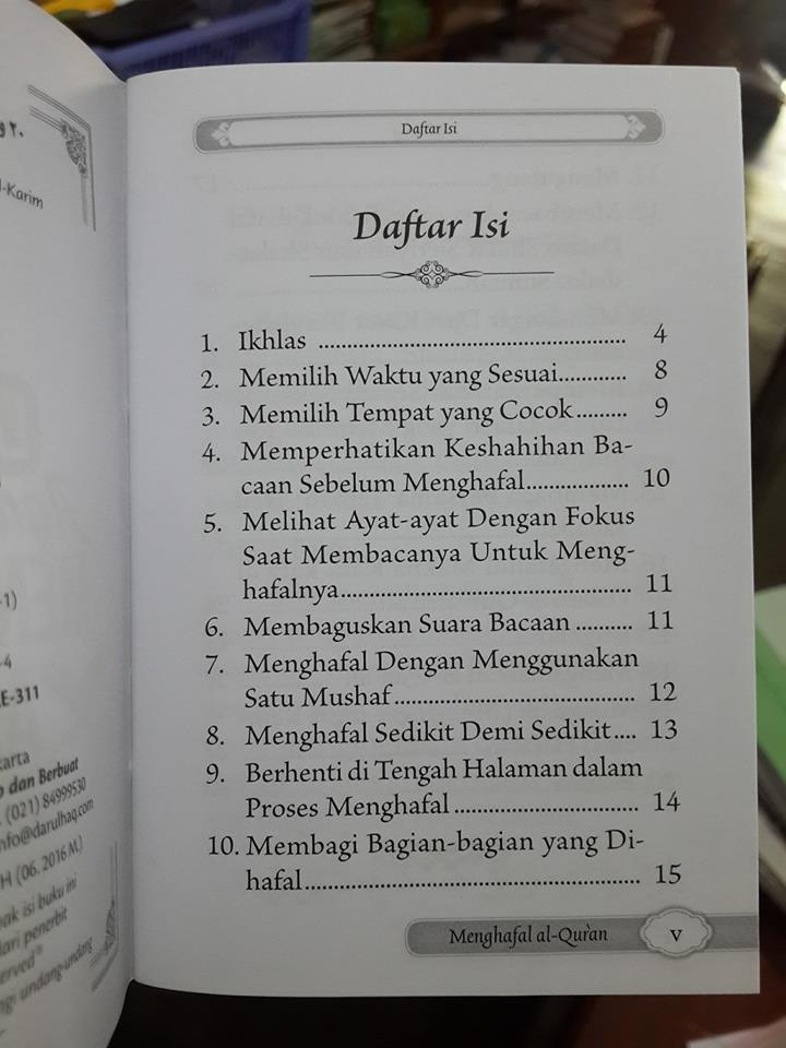 20 langkah agar mudah menghafal al-Qur'an saku isi 2