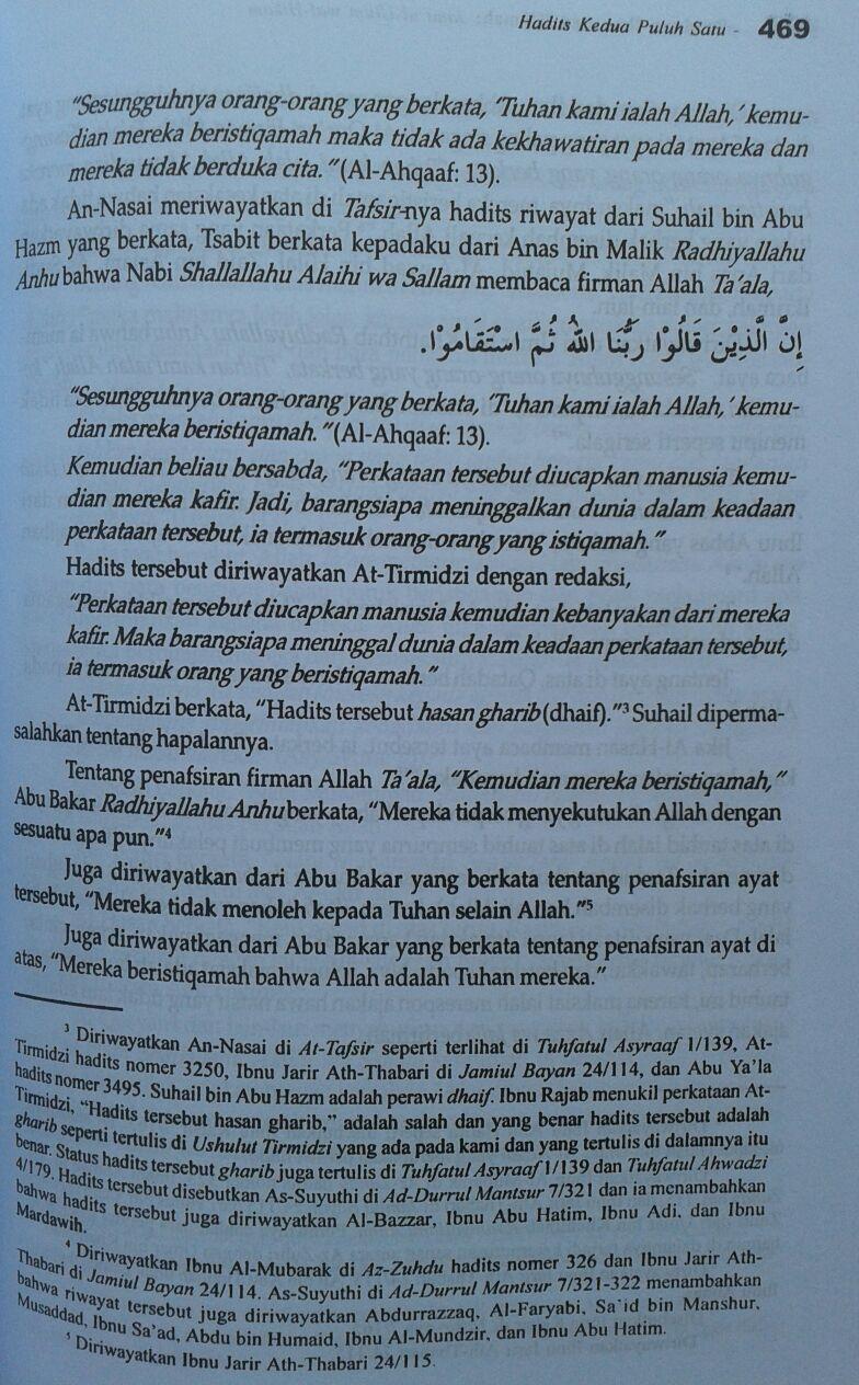 Buku Panduan Ilmu Dan Hikmah (Jami'ul Ulum Wal Hikam) isi