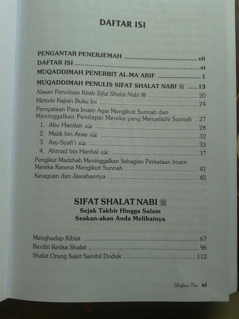 Buku Sifat Shalat Nabi Edisi Lengkap 3 Jilid isi