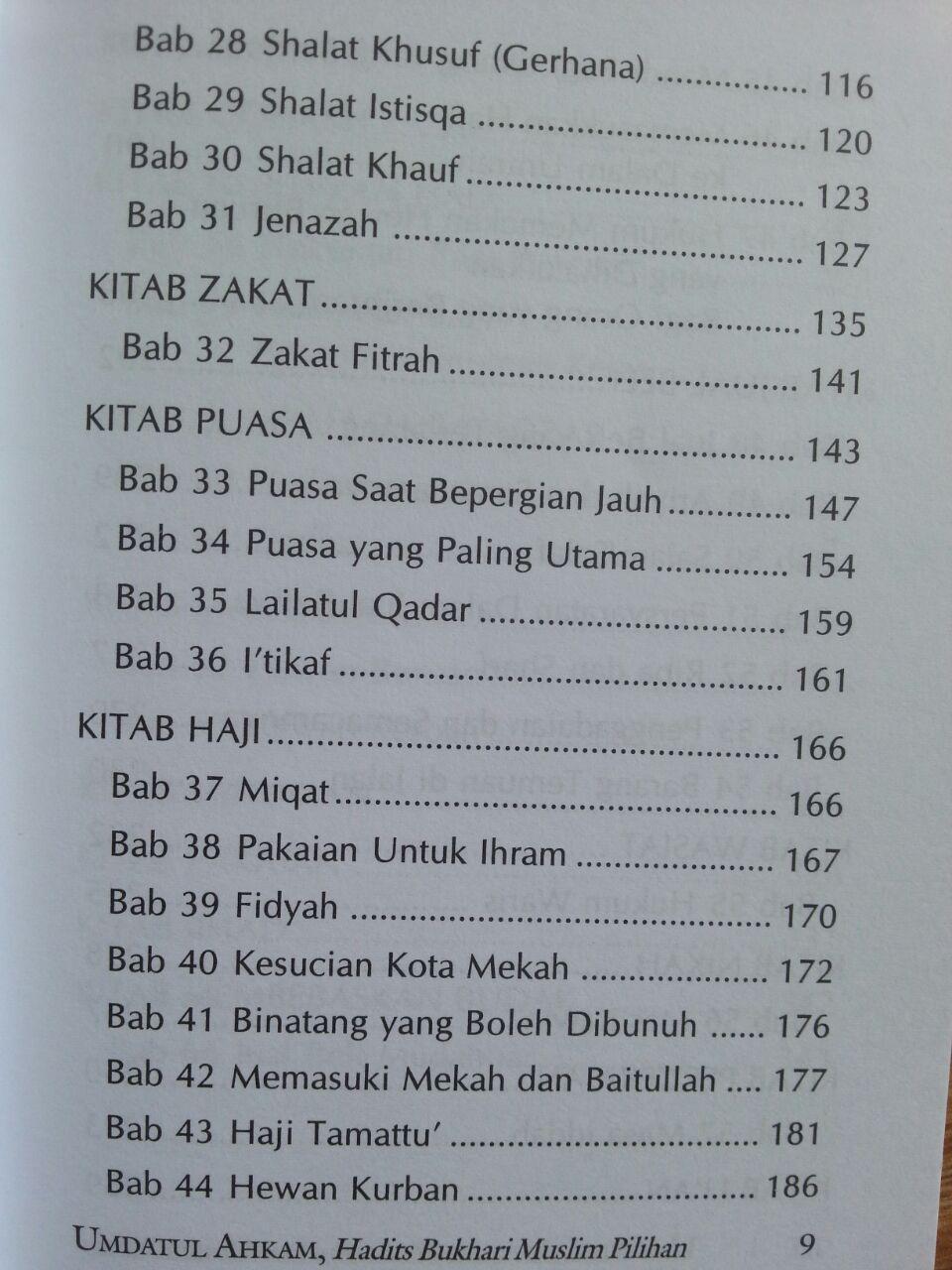 Buku Terjemah Umdatul Ahkam Ukuran A5 isi 2