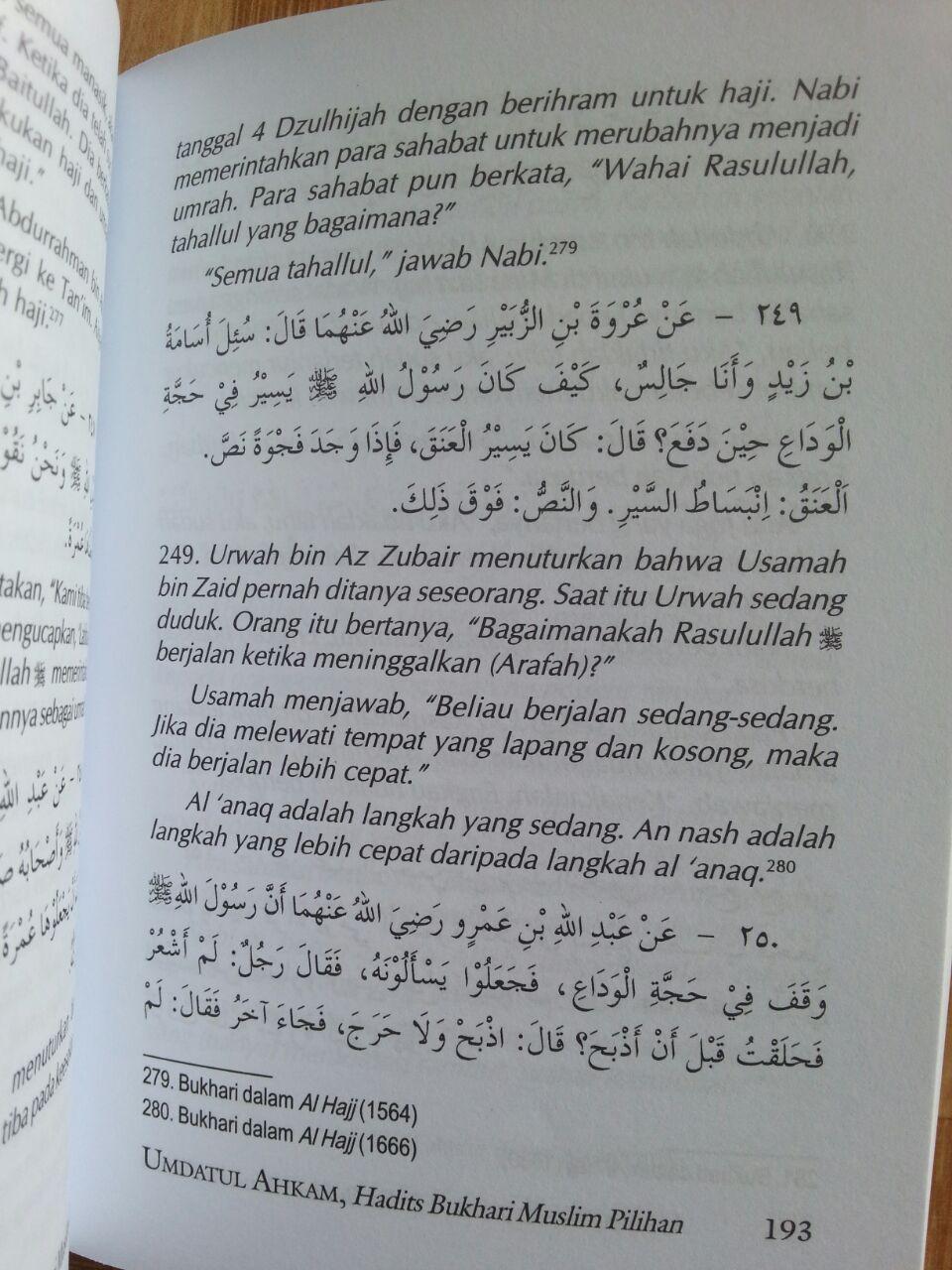 Buku Terjemah Umdatul Ahkam Ukuran A5 isi 4