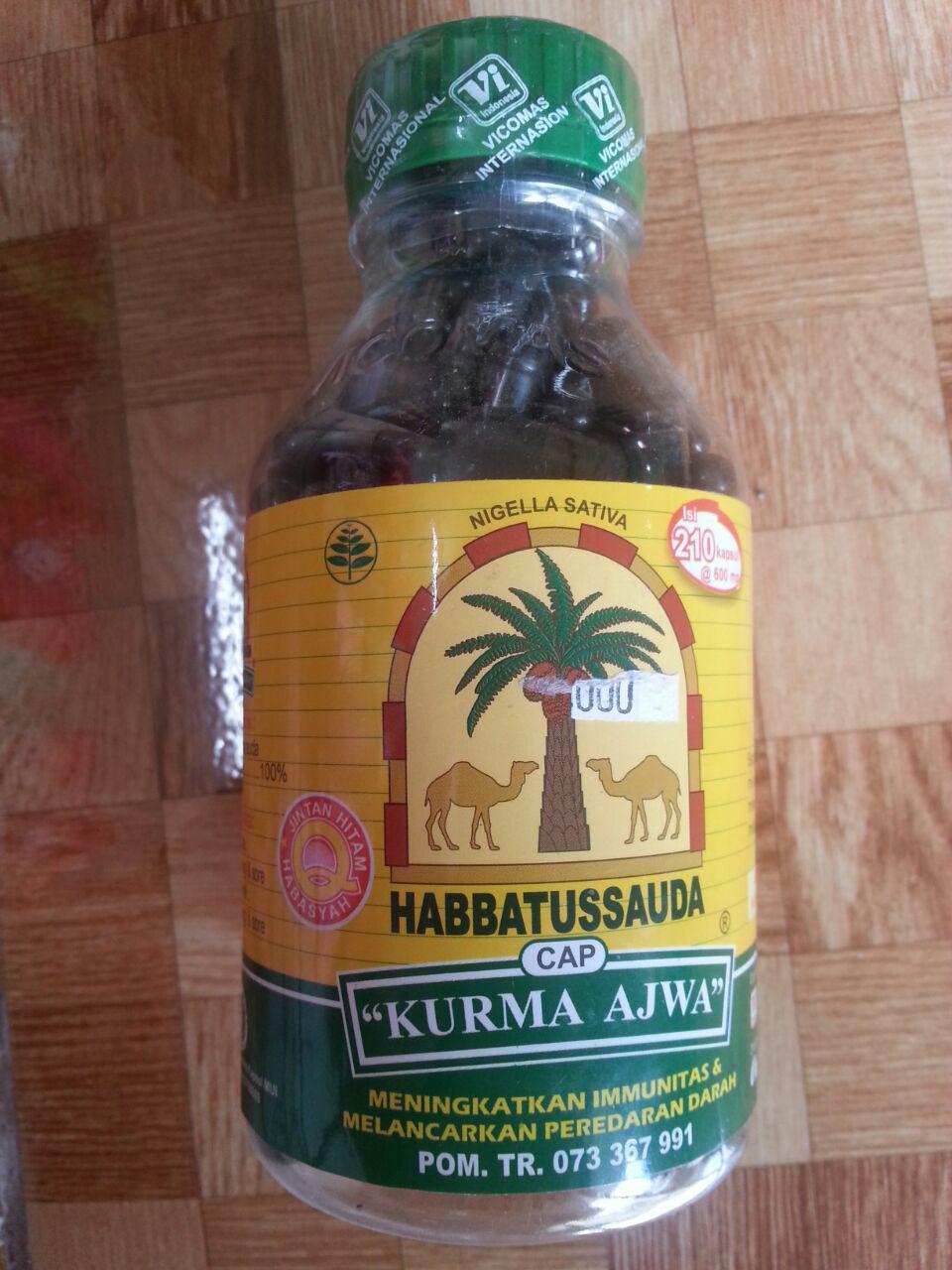 Habbatus Sauda Kurma Ajwa Isi 210 Kapsul cover 3