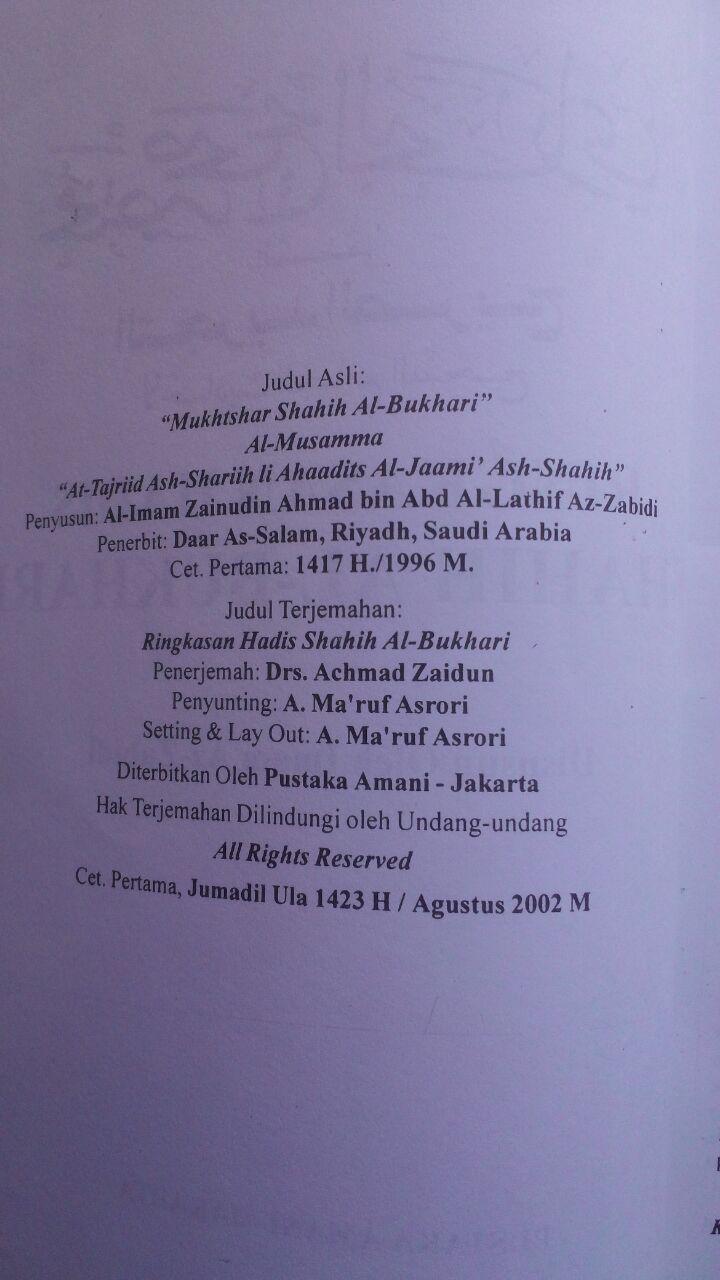 Ringkasan hadis Shahih Bukhari isi 2