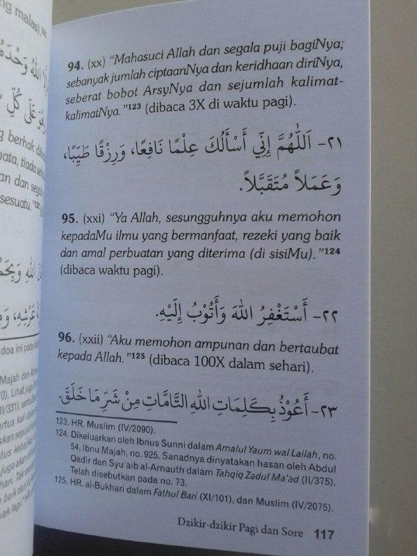 Buku Hisnul Muslim Doa & Wirid Buku Dzikir Paling Ringkas isi