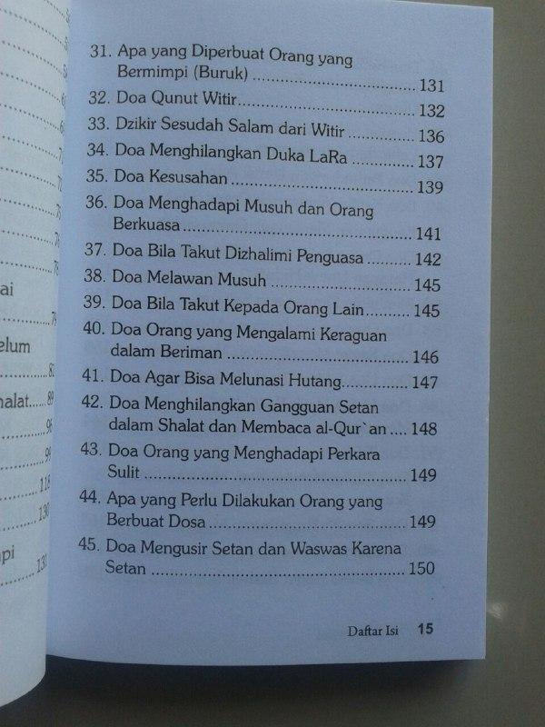 Buku Hisnul Muslim Doa & Wirid Buku Dzikir Paling Ringkas isi 2