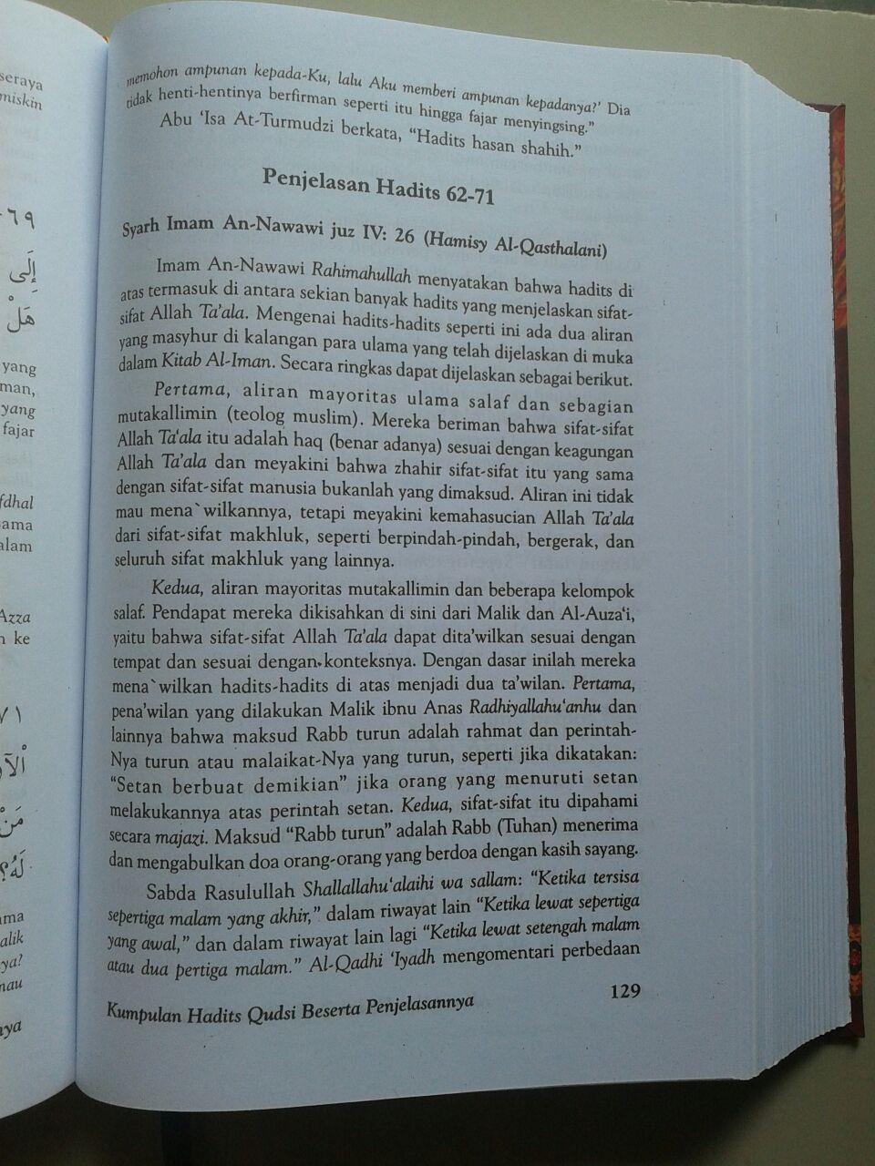 Buku Kumpulan Hadits Qudsi Berserta Penjelasannya isi 3