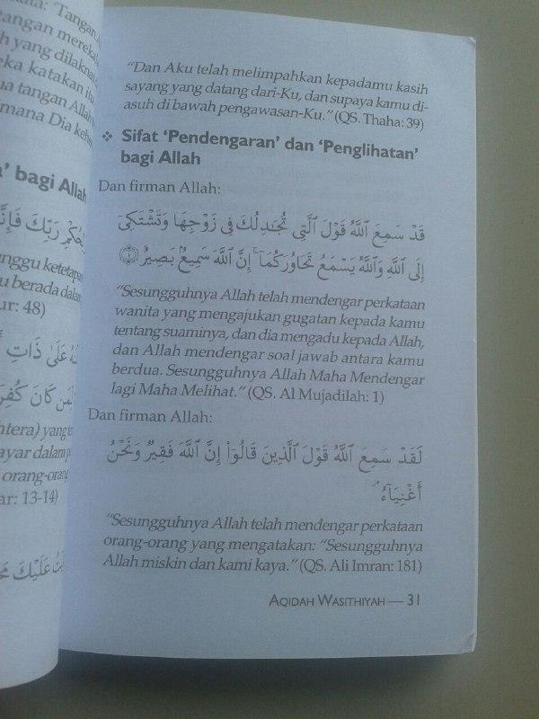Buku Terjemah Aqidah Wasitiyah isi
