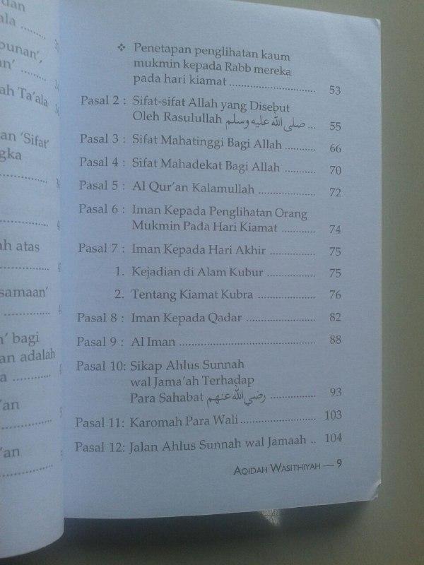 Buku Terjemah Aqidah Wasitiyah isi 3