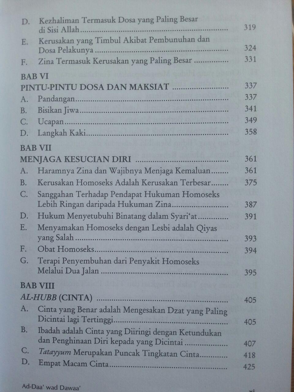 Buku Pengobatan Ad-Daa' wa ad-Dawaa' isi