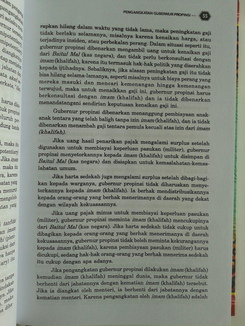 Buku Al Ahkam As Sulthaniyyah isi