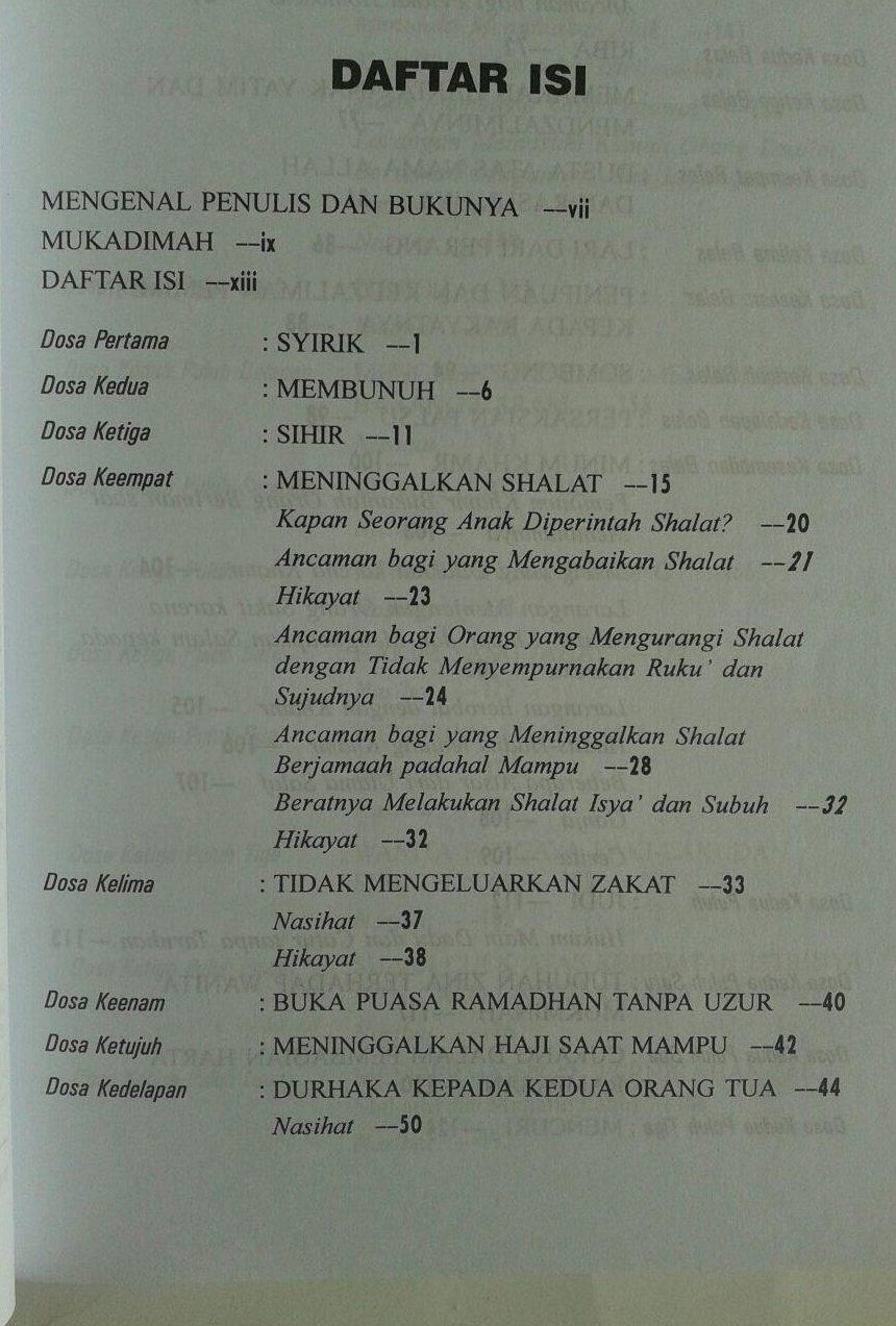Buku Al-Kabair Galaksi Dosa isi 2