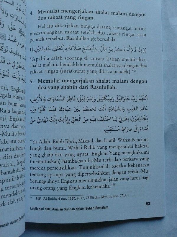 Buku Lebih Dari 1000 Amalan Sunnah Dalam Sehari Semalam isi