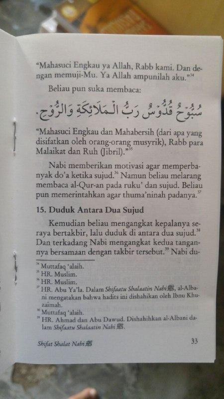 Buku Saku Sifat Shalat Nabi isi 2