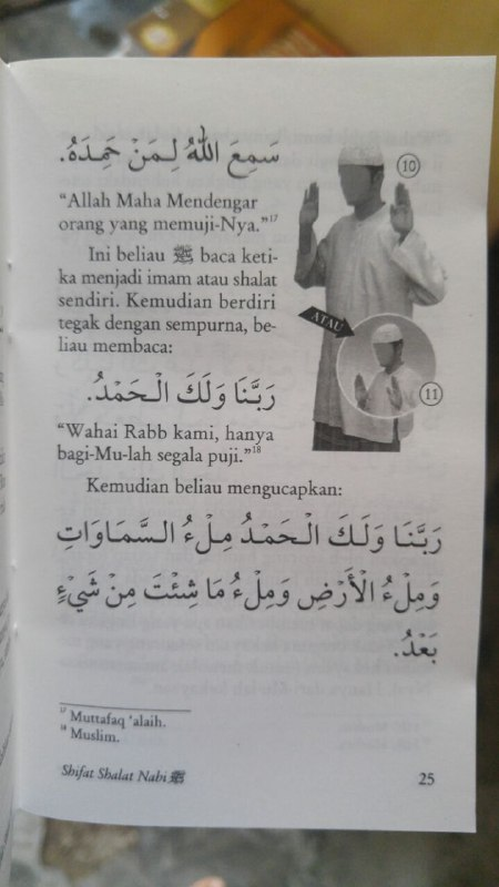 Buku Saku Sifat Shalat Nabi isi