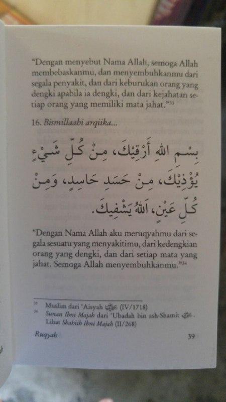 Buku Saku Tuntunan Do'a Ruqyah isi 2