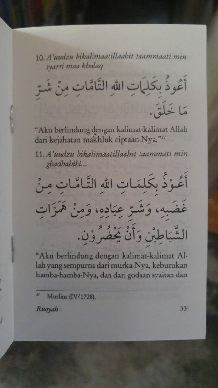 Buku Saku Tuntunan Do'a Ruqyah isi