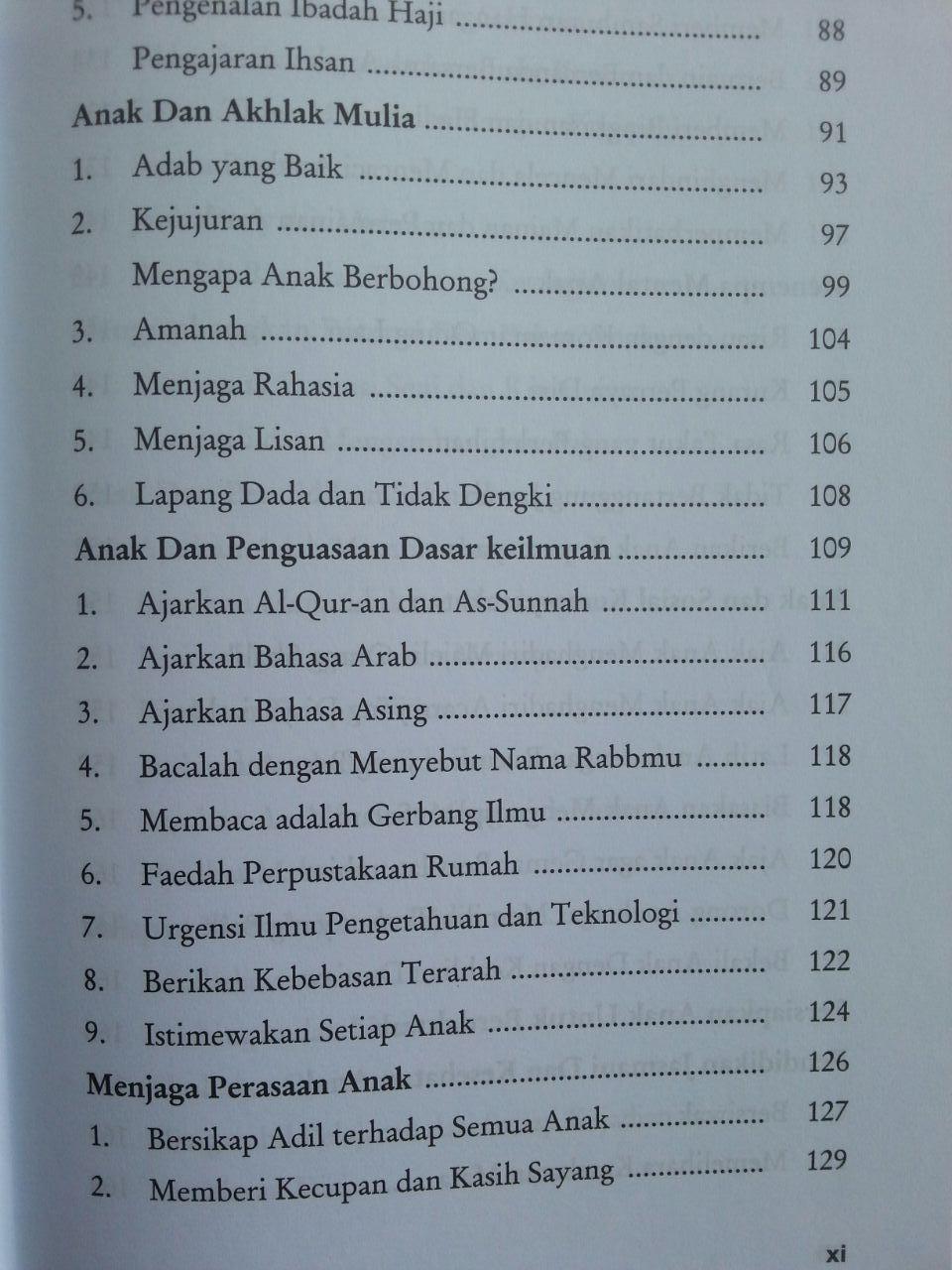 Buku Mencetak Generasi Rabbani isi