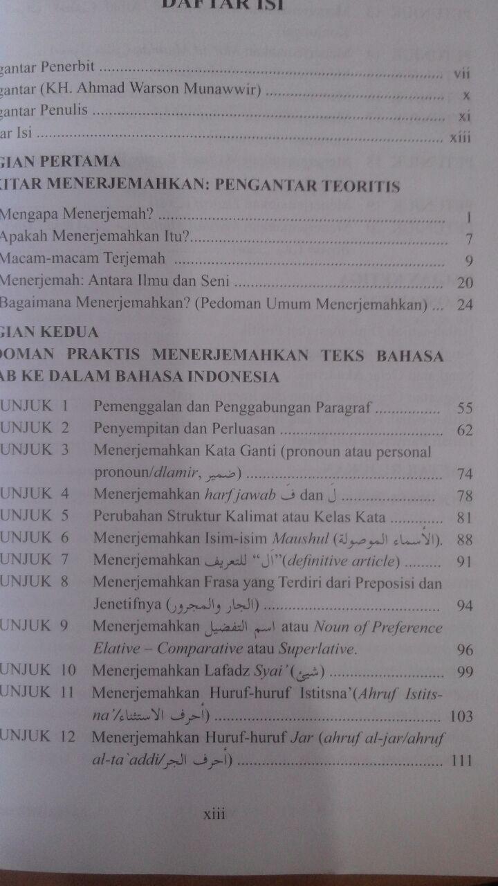 Buku Pintar Menerjemah Arab-Indonesia isi 2