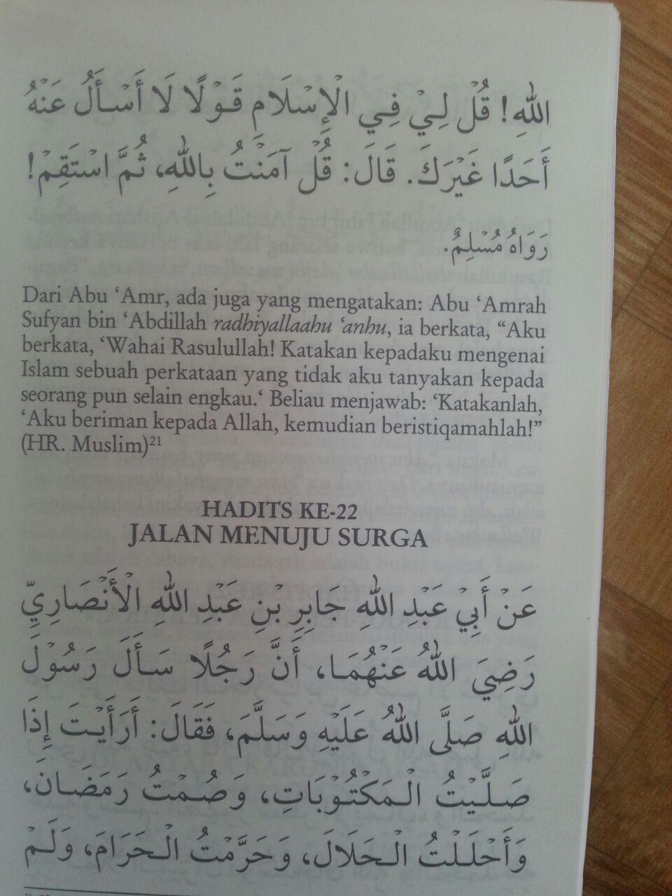 Buku Saku Matan Hadits Arba'in isi 2