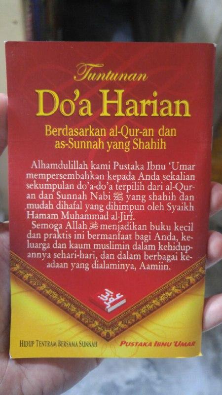 Buku Saku Tuntunan Do'a Harian Berdasarkan Al Quran Dan As Sunnah Yang Shahih cover 2
