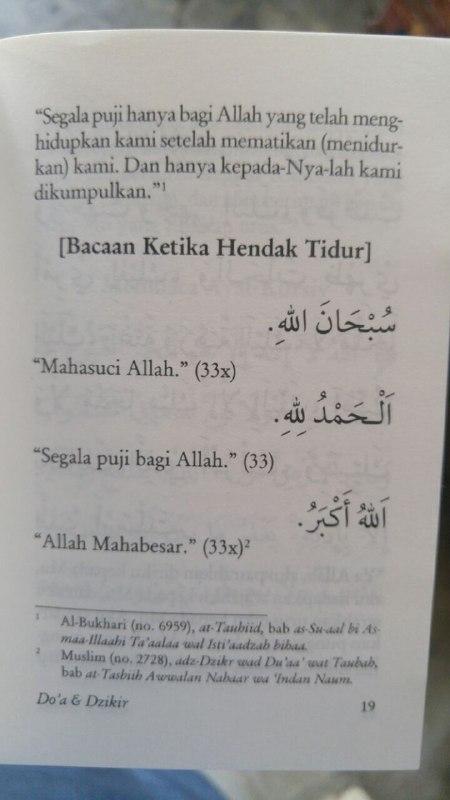 Buku Saku Tuntunan Do'a Harian Berdasarkan Al Quran Dan As Sunnah Yang Shahih isi 2