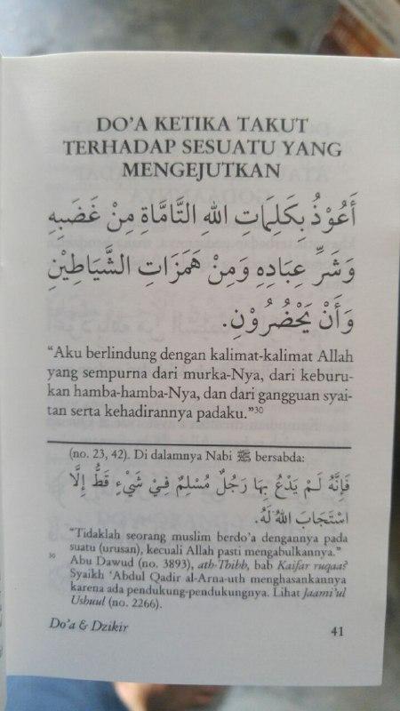 Buku Saku Tuntunan Do'a Harian Berdasarkan Al Quran Dan As Sunnah Yang Shahih isi