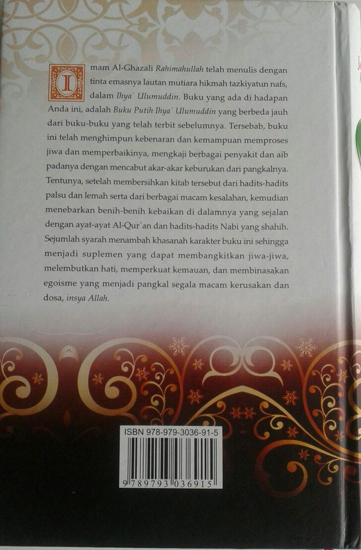 Buku Putih Ihya Ulumuddin Imam Ghazali cover