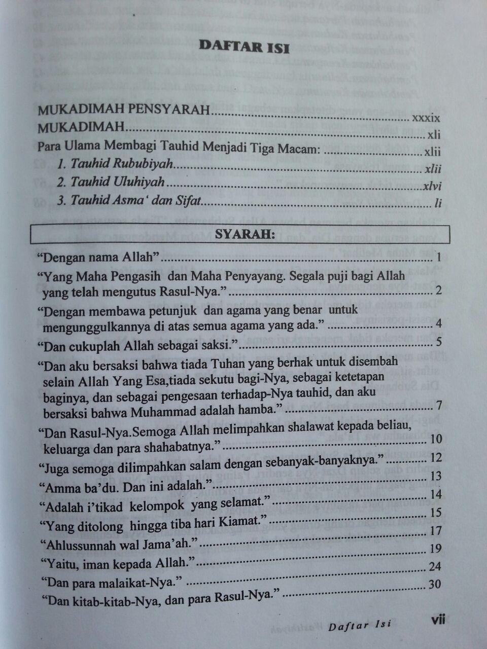 Buku Syarah Aqidah Wasithiyah isi 3