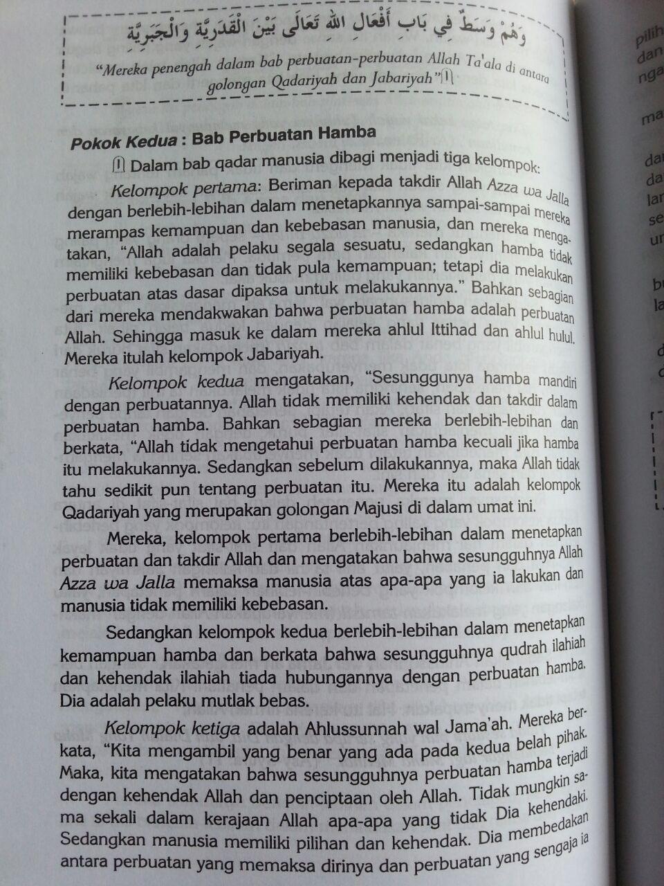 Buku Syarah Aqidah Wasithiyah isi 4
