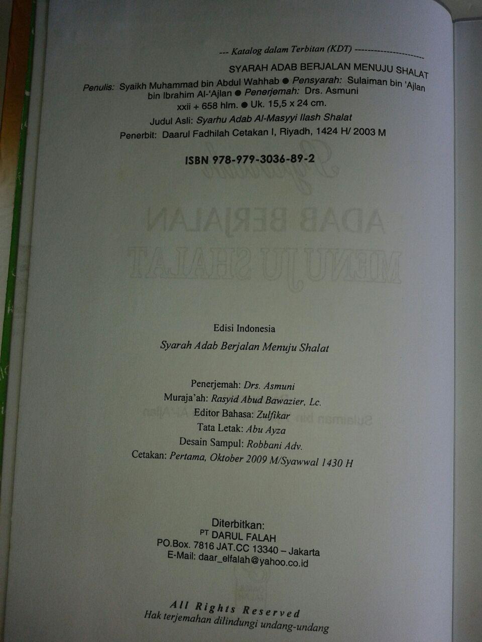 Buku Syarah Adab Berjalan Menuju Shalat isi 2