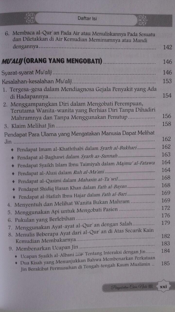 BK459 Buku Pengobatan Cara Nabi Terhadap Kesurupan, Sihir, dan Gangguan Makhluk Halus isi