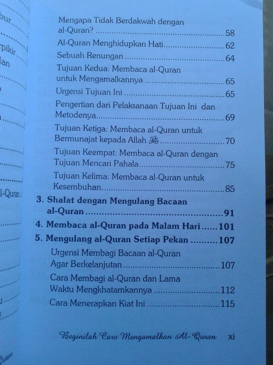 Buku Beginilah Cara Mengamalkan al-Quran isi 3