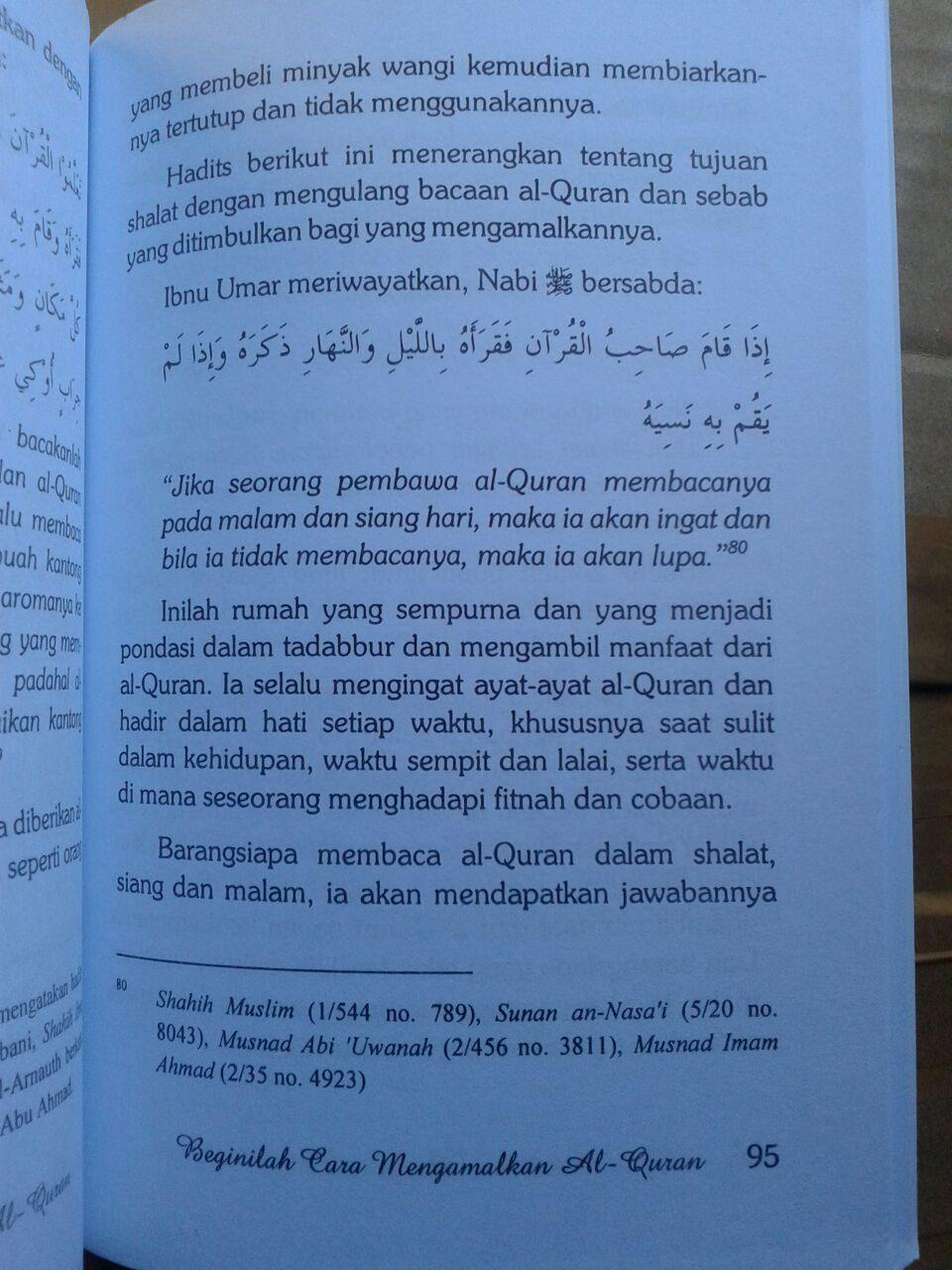 Buku Beginilah Cara Mengamalkan al-Quran isi