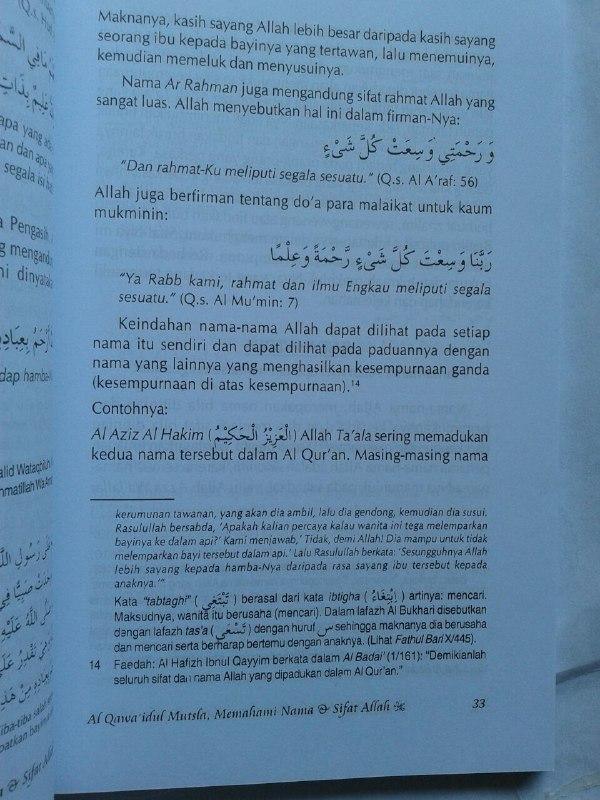 Buku Al Qawa'idul Mutsla Memahami Nama & Sifat Allah isi
