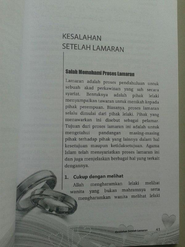 Buku Kesalahan Kesalahan Pengantin Sebelum Lamaran - Malam Pertama isi 2