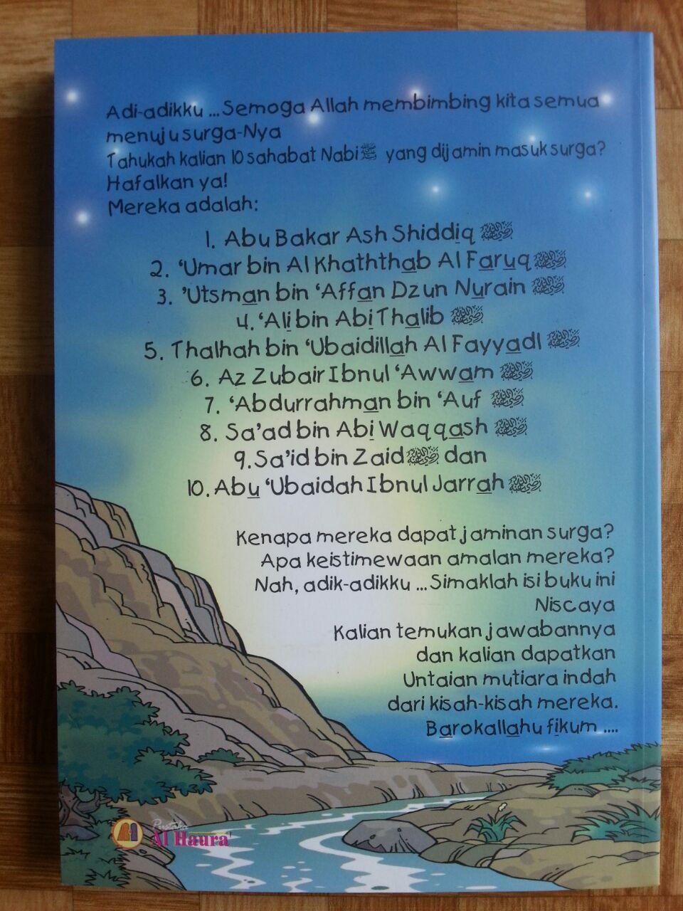 Buku 10 Sahabat Pemetik Janji Surga cover