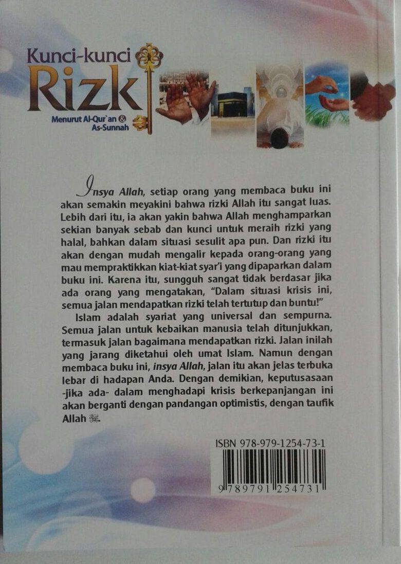 Buku Kunci-Kunci Rizki Menurut al-Qur'an Dan As-Sunnah cover